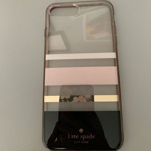 Kate Spade iPhone 8 Plus Hard Stripped Case